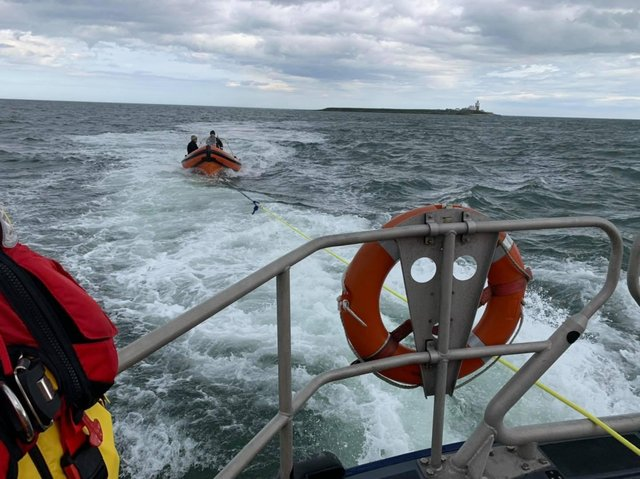 A lifeboat was called to the aid of a vessel with engine trouble.
