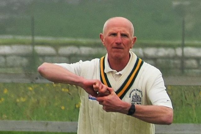 Ian Clough bowling for Warkworth v Bedlington on Saturday.