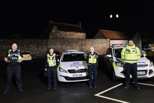 Northumbria Police have joined forces with officers across the border to crackdown on antisocial behaviour in Berwick. Photo: Northumbria Police