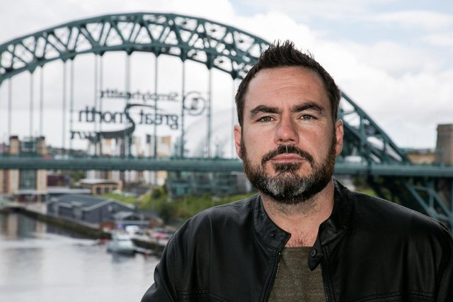 Robert Scragg, winner of the Lindisfarne Prize for Crime Fiction.