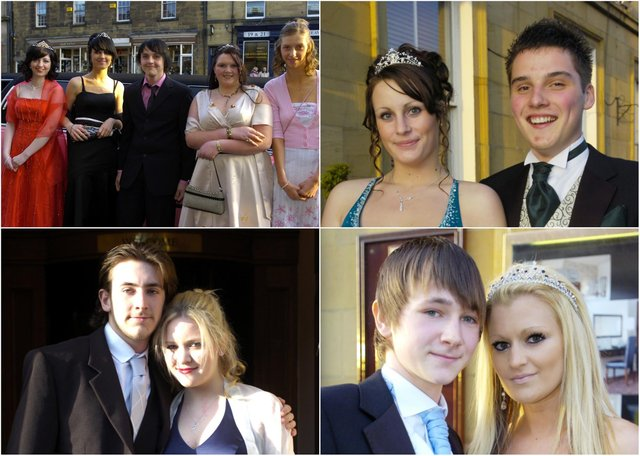 Students from Coquet High School, Amble, all set for their prom at the White Swan Hotel, Alnwick, in 2008.