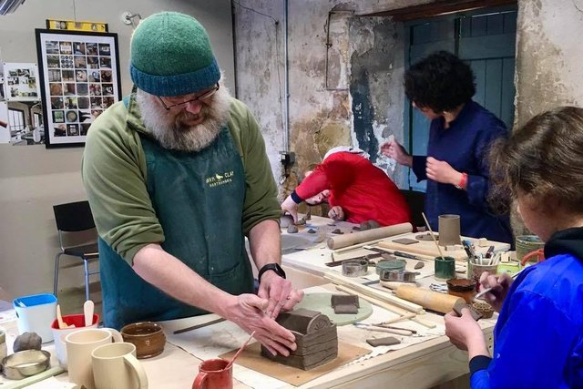Pottery workshops at the Ravn Clay studio on Ford and Etal Estates.