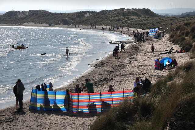Beadnell Bay at Easter 2019.