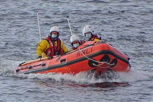 Seahouses inshore lifeboat crew.