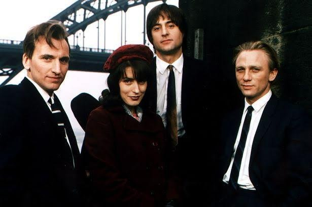 The main stars of Our Friends in the North, from left, Christopher Eccleston, Gina McKee, Mark Strong and Daniel Peacock. Picture BBC.