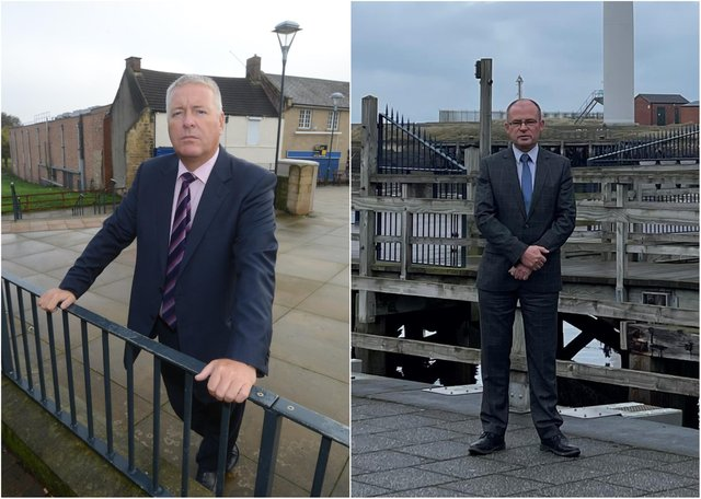Wansbeck MP Ian Lavery (left) and Blyth Valley MP Ian Levy.