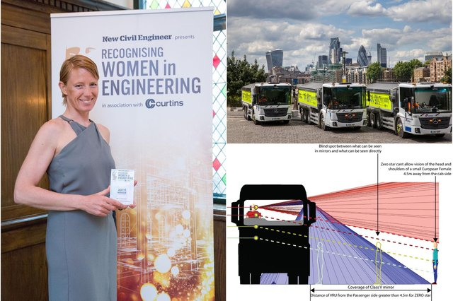 Kate Cairns campaigns for HGV safety improvements.