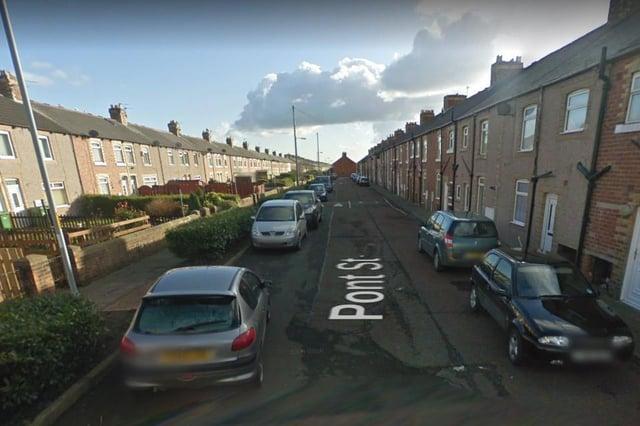 Police raided a property on Pont Street in Ashington.