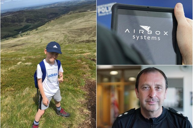 A 10-year-old boy was brought to safety – with a helping a hand from technology – after getting lost on the Cheviots.