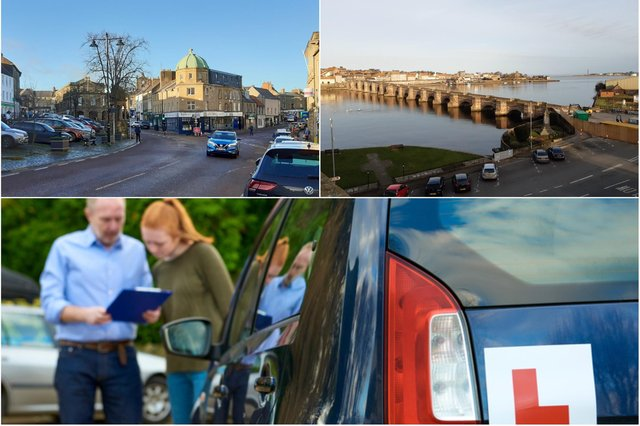 Alnwick and Berwick are among the easiest places to pass a driving test, data reveals.