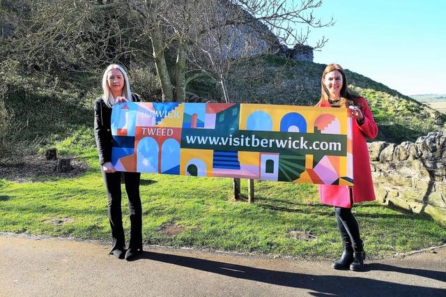 Tourism officer Jenna Shields with Ann Turner of Berwick Community Trust.