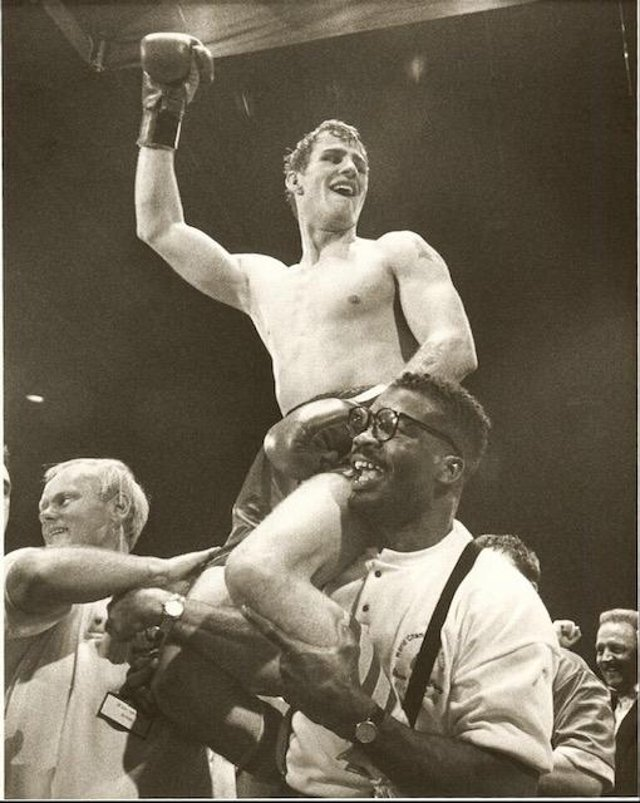 Glenn McCrory celebrating