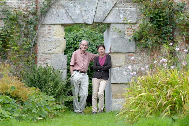 Chris Mullin who has retired to Callaly in the heart of Rurual Northumberland with his wife Ngoc.