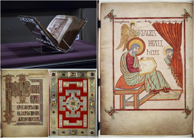 The Lindisfarne Gospels. Picture: British Library Board