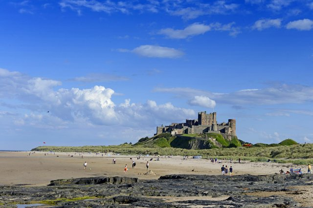 Bamburgh beach and castle. Picture by Jane Coltman