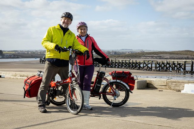 Sandra Kerr and her partner, David, are promoting The Big Northumberland Gear Change.
