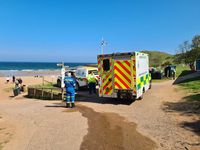 Berwick Coastguard Rescue Team shared this photo following its call out to Coldingham Sands, where its members helped a person showing signs of hypothermia.