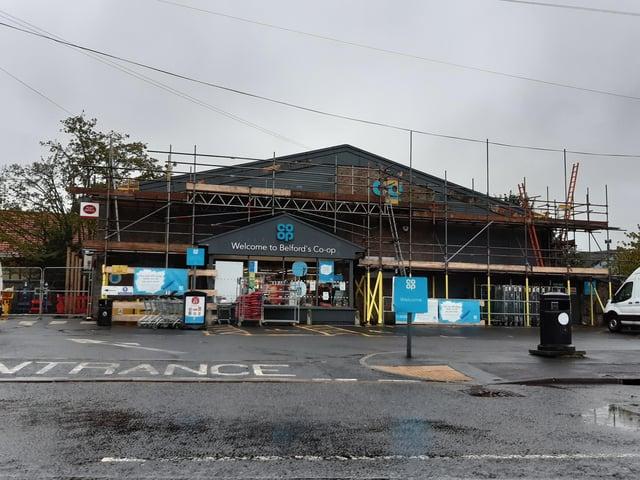 Redevelopment works at Belford Co-op.