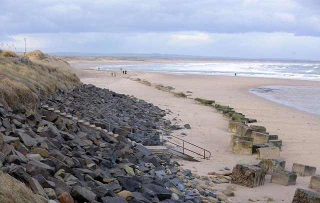 The Coastguard Rescue Teams were called to Cresswell beach after concerns were raised when clothing was found abandoned