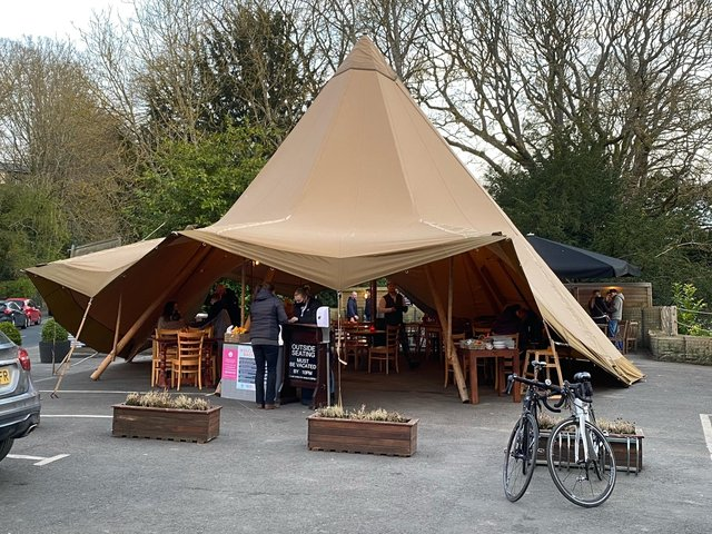 The Northumberland Arms tipi, at Felton.