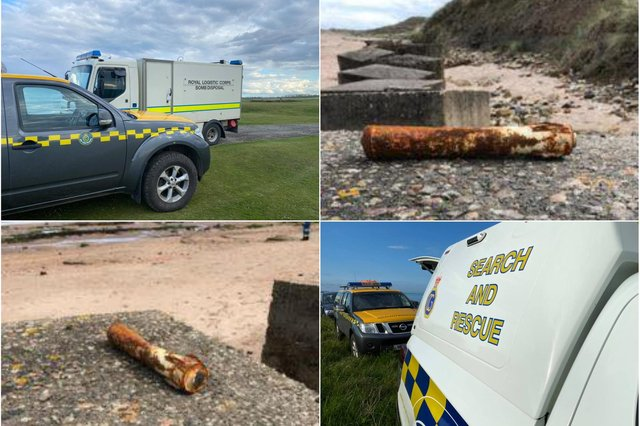 A bomb disposal unit was called after a mystery object was found at Birling Craggs, near Warkworth. Pictures: Howick Coastguard Rescue Service