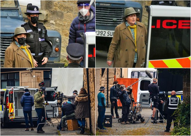 Filming in Amble.