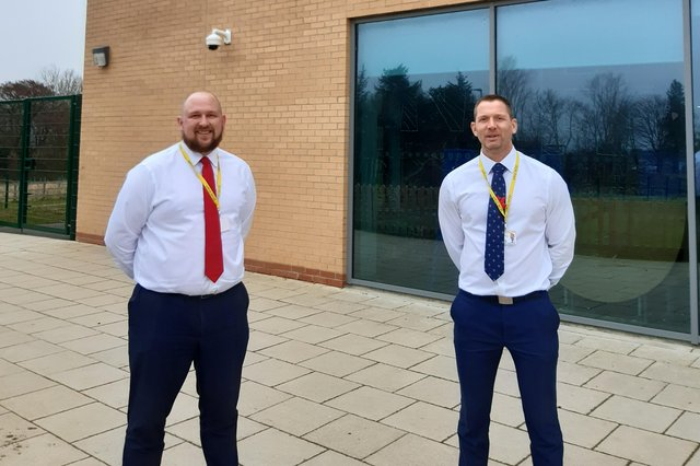 James Wilson and Alan Rogers, co-heads at Duchess's Community High School in Alnwick.