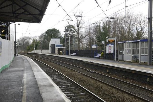 Morpeth railway station.