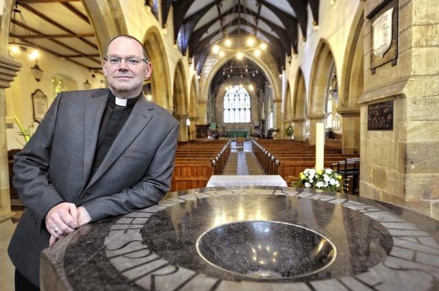 Rev Paul Scott at St Michael's Church in Alnwick.