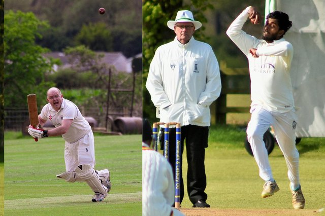 Matisse Richards and Dushan Hemantha bowling for Alnmouth &Lesbury during their win over Swalwell and Ivor Patterson batting for Wooler against Ulgham. Alnmouth pictures by Steve Miller.