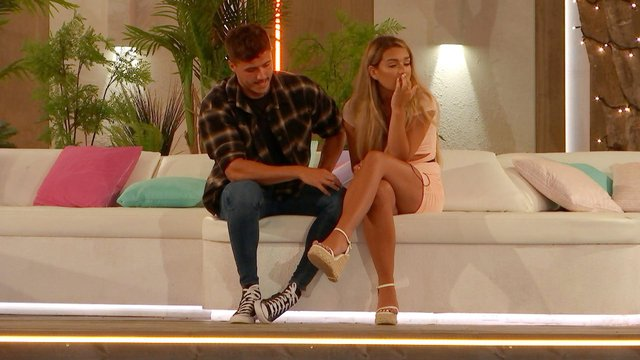 Lucinda and Brad. Picture: ITV LOVE ISLAND, TONIGHT AT 9PM ON ITV2 AND ITV HUB
