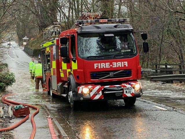 Northumberland Fire and Rescue Service shared this photo of its crew working at Stanley Burn.