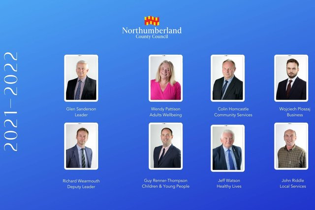 The Northumberland County Council cabinet 2021-22.
