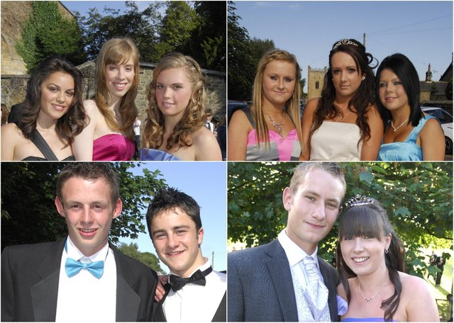 Year 11 students from Duchess's High School in Alnwick ready to set off for their prom in 2009.