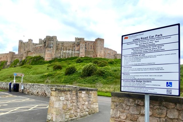 Bamburgh's main car park is set to be closed for use by a film production company.