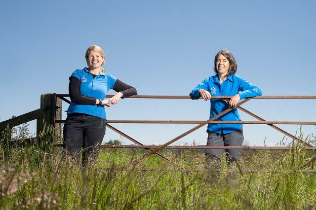 Emma Taylor, Farming in Protected Landscapes programme manager, left, and Sally Graham, Farming in Protected Landscapes support officer.