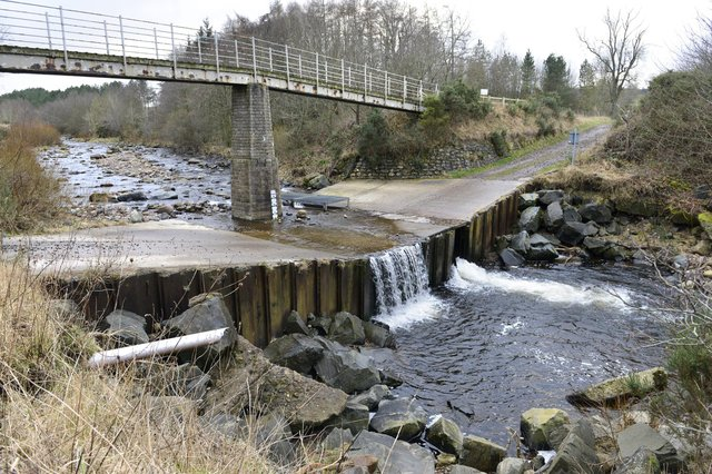 Haugh Head ford and fish pass on Wooler Water. Picture by Jane Coltman