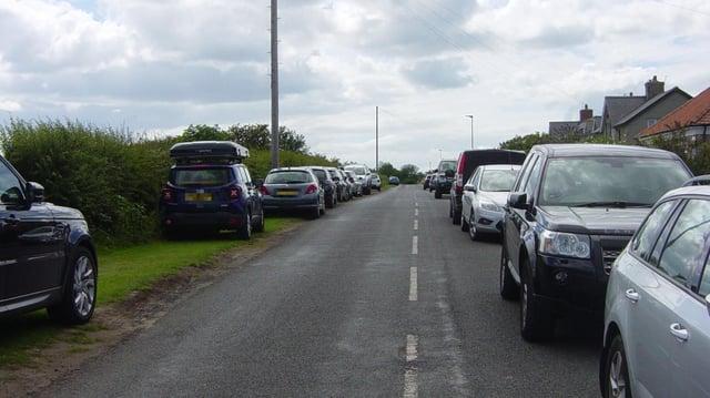 Parking congestion in Boulmer last summer.