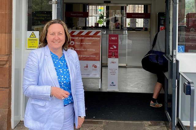 Anne-Marie Trevelyan pictured outside Berwick Railway Station last month.