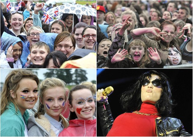 Huge crowds watched popstar Jessie J perform in the Pastures beneath Alnwick Castle on Saturday, August 25, 2012.