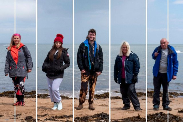 Take A Hike contestants hiking in Northumberland and North Tyneside.