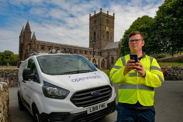 Damage to broadband cabinets, telephone poles and overhead wires across the Northumberland can now be reported to Openreach using precise locations from what3words.