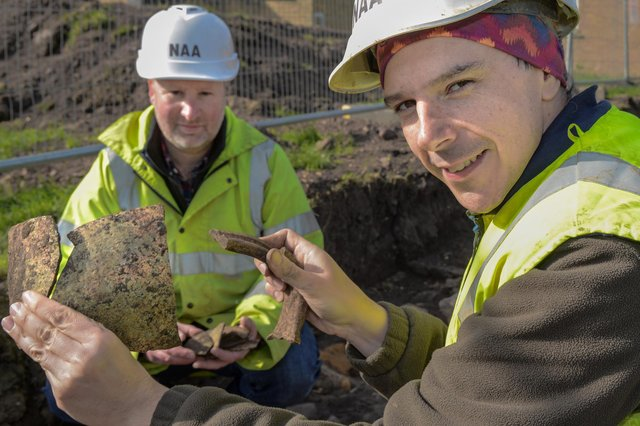 Clues to life in medieval Berwick have been uncovered by the team of archeologists brought in by Northumbria NHS where a new hospital is being built. Project officer Steve Collison of Northern Archaeological Associates discusses some of the finds so far with project manager Dave Fell.