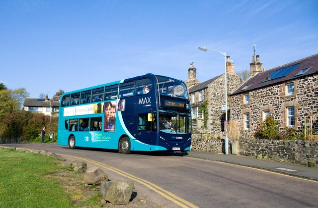 An Arriva X18 Coast and Castles bus at Craster. Picture by Iain Robson
