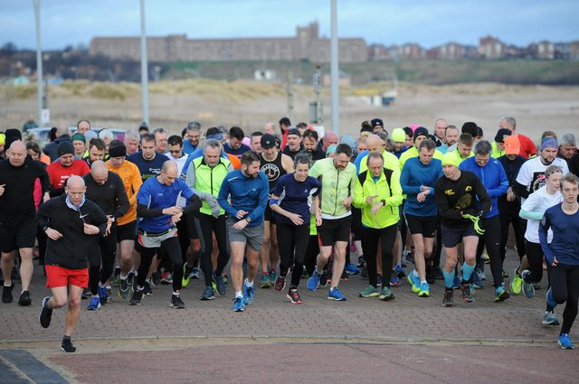 Participants taking part in South Shields Parkrun.