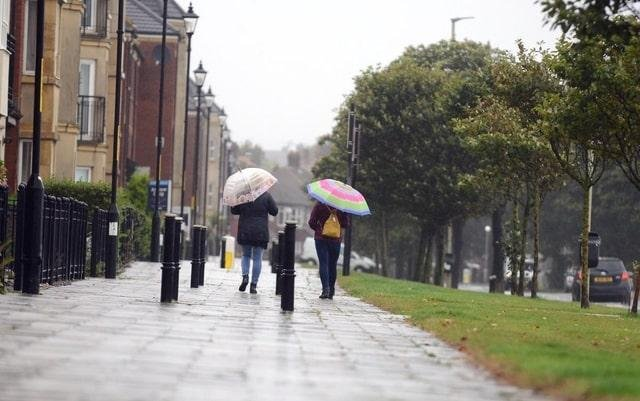 File picture: Spells of heavy rain forecast for Monday and Tuesday