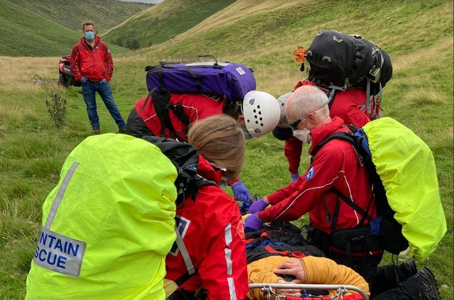 Volunteers from Northumberland National Park and North of Tyne Mountain Rescue Teams went to the man's aid.