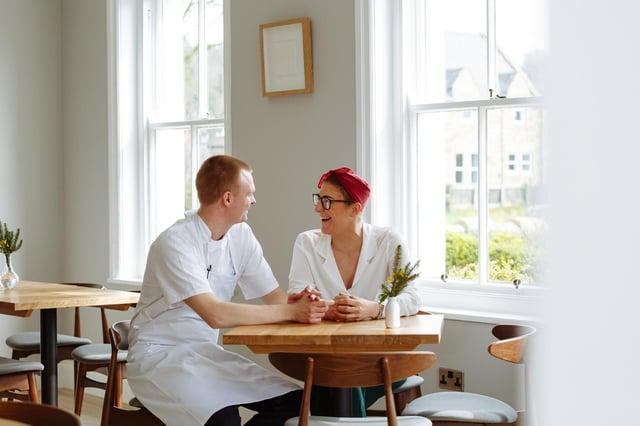 Head chef Alex Nietosvuori and restaurant manager Ally Thompson.