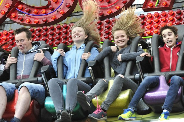 Enjoying one of the funfair rides at a previous Morpeth Fair Day. Picture by Jane Coltman.