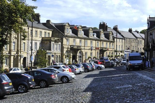 The cobbles area of Alnwick.